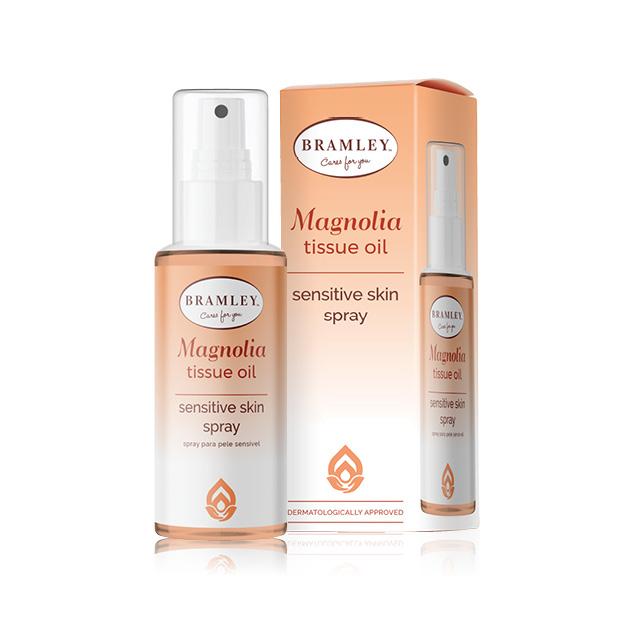 tissue oil magnolia spray 100ml bramley skin range sensitive box face care